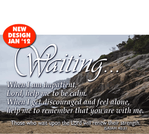 Learning to wait on Him---Isaiah 40:31