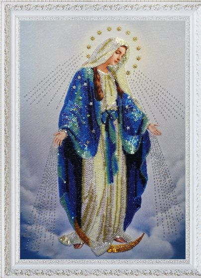 Catholic Mary /& Jesus Madonna DIGITAL Counted Cross Stitch Pattern Needlepoint