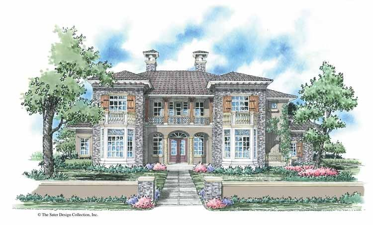 Mediterranean Style House Plan 4 Beds 4 5 Baths 3474 Sq Ft Plan 930 276 House Plans Mediterranean Style House Plans Country House Plans