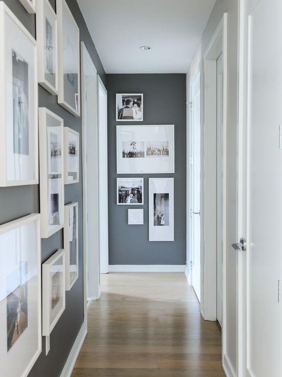 Clever Ways to Decorate Your Hallway Colores grises, Gris y Color - pinturas para salas