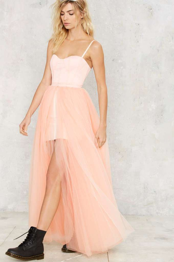 3ba420a818 Nasty Gal Blush Hour Tulle Dress - Clothes