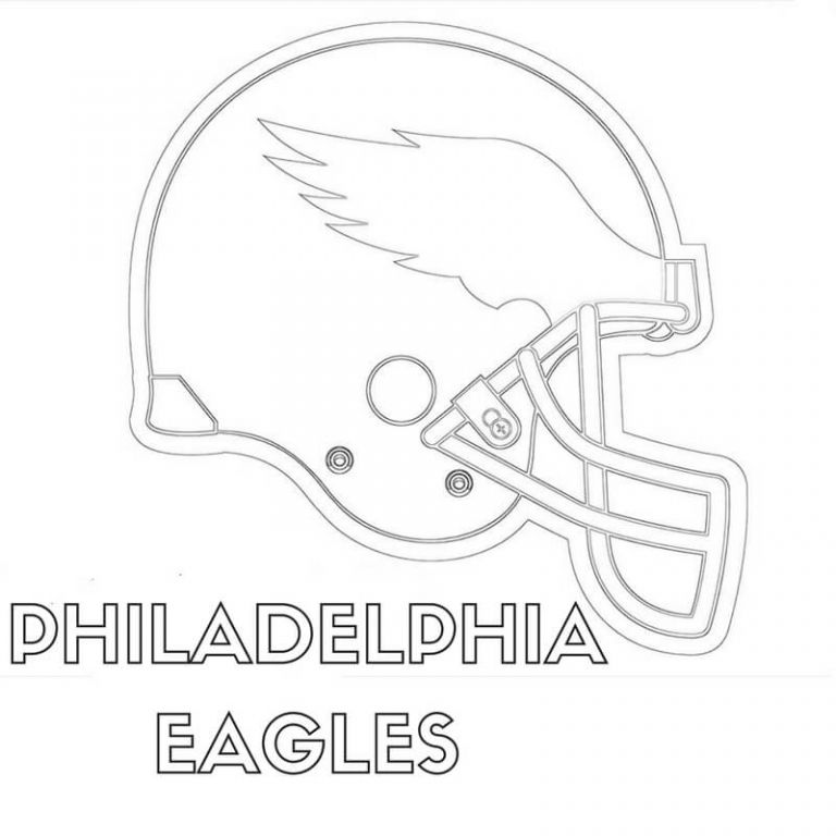 Philadelphia Eagles Coloring Pages Helmet Philadelphia Eagles