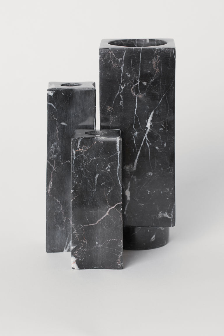 Marble Vase Black Marble Candlesticks Marble Candle