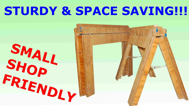 how to build folding sawhorses diy | work shop ideas