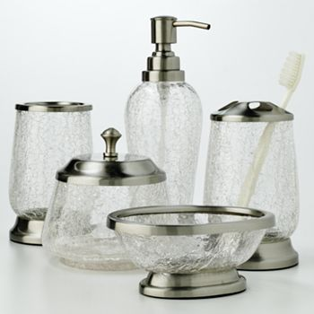 bathroom soap dispensers bath accessories. Bath accessories at Kohl s  Shop our full line of bath essentials including these Home Classics Crackled Glass Accessories Bathroom Spa kohl home