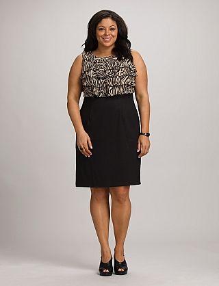 plus size zebra ruffle top dress | dressbarn | mother dresses