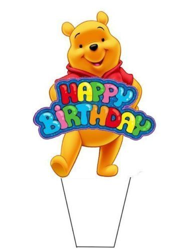 20 Standup Edible Cake Toppers Winnie The Pooh Birthday Toppers