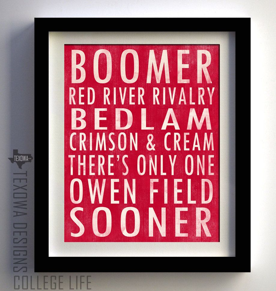 Man Cave Norman Ok : Oklahoma university sooners subway scroll art by
