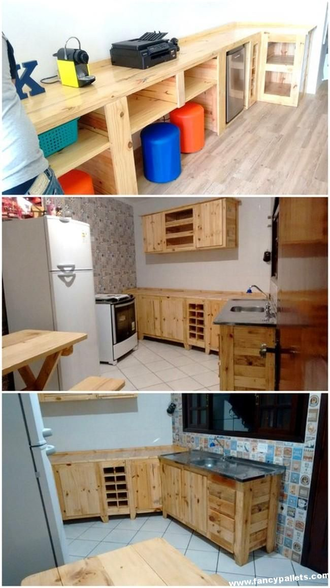 Beautiful Diy Pallets Kitchen Cabinets Pallet Kitchen Cabinets