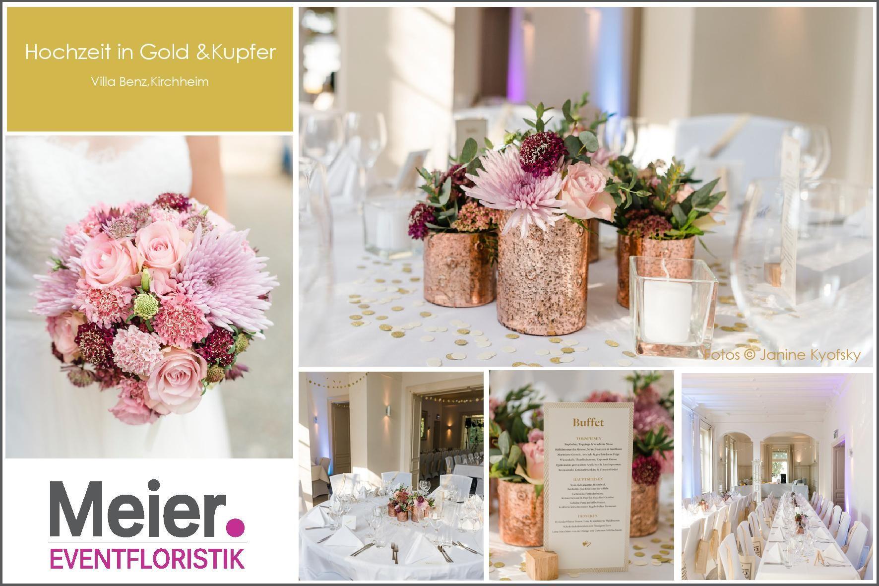 Brautstrau und deko f r die hochzeit in kupfer gold und rosa blumenkonzepte f r eure hochzeit - Dekoration hirschgeweih ...