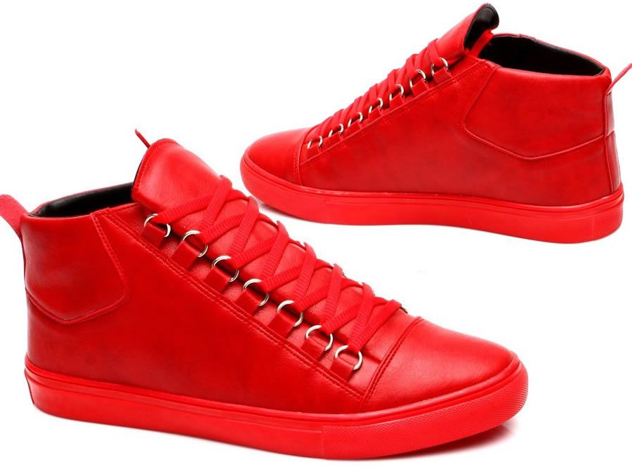 watch b952b dd77a Heren Rode Hoge Sneaker HCS070 | Modedam.nlDe mooiste heren ...