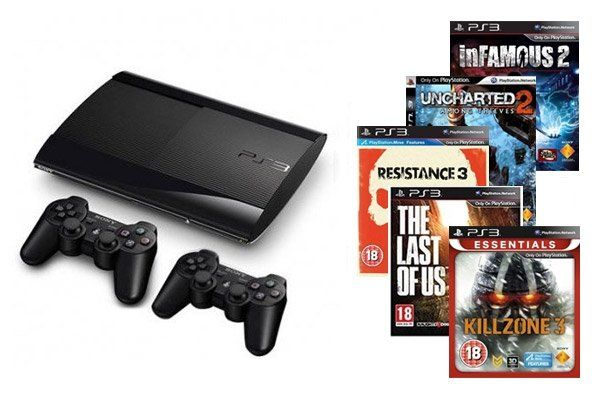 Online exclusive Deal:PlayStation 3 Super Slim Console 500 GB + Extra NTSC Third-Party Controller + The Last Of Us + Resistance 3 + Uncharted 2: Among Thieves + Killzone 3 + Infamous 2 for 89.900KD with 10KD coupon http://www.xcite.com/gaming/playstation-3/console/playstation-3-super-slim-console-500-gb-extra-ntsc-third-party-controller-the-last-of-us-resistance-3-uncharted-2-among-thieves-killzone-3-infamous-2.html