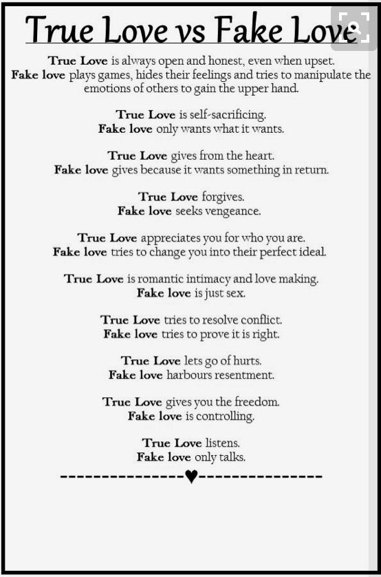 how to fake love