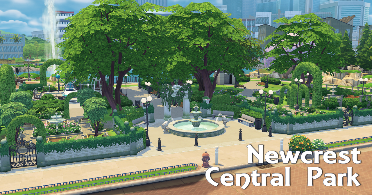 A Sims 4 Blog Newcrest Park No Cc Maxis Only I Have All
