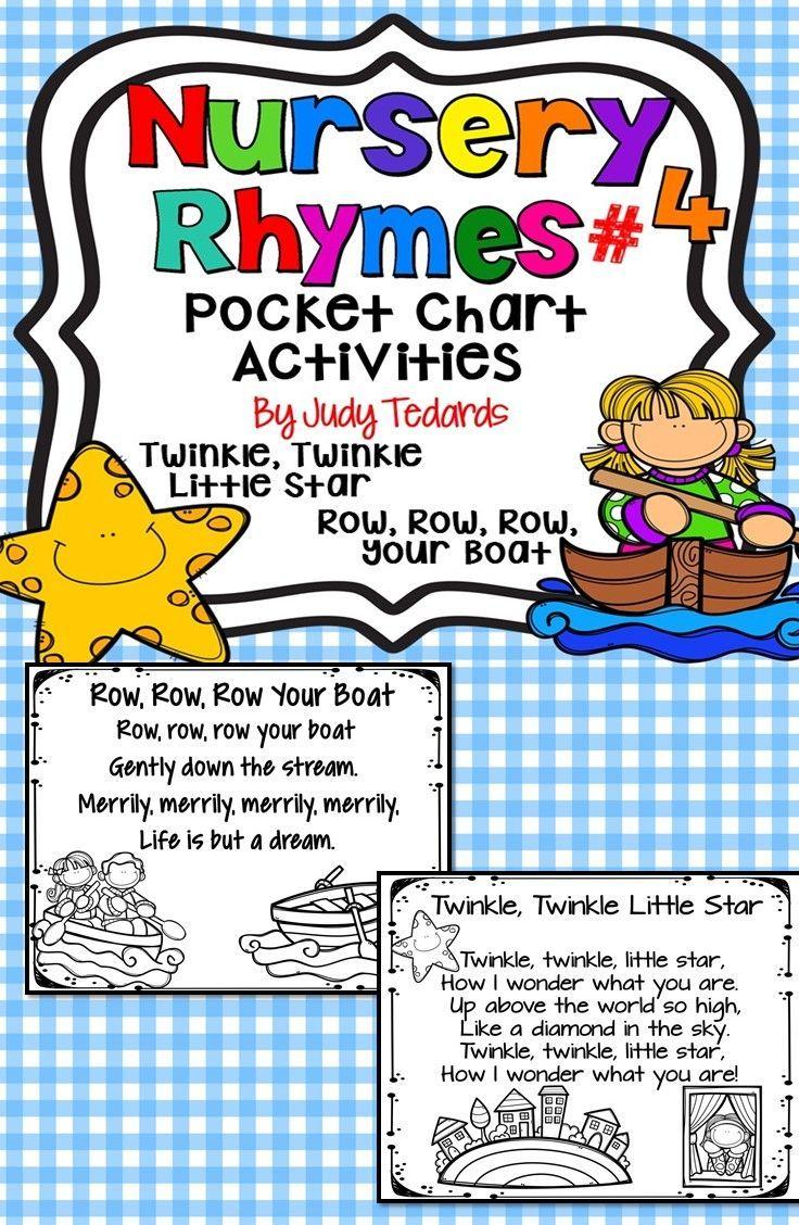 Nursery Rhymes 4 Pocket Chart Activities Pocket Chart