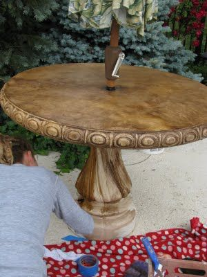 Staining Concrete Several Examples On This Blog About Beautifying - Stained concrete table