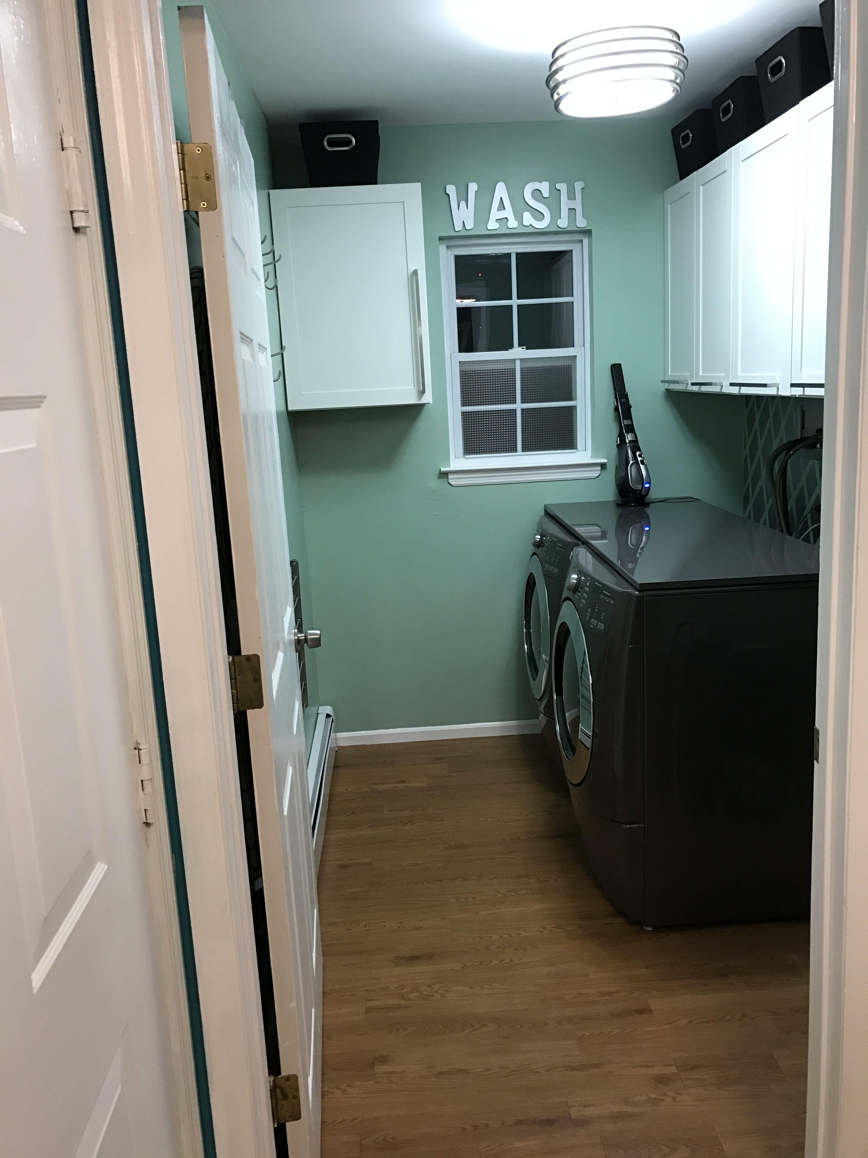 My Laundry room reno reveal, valspar \