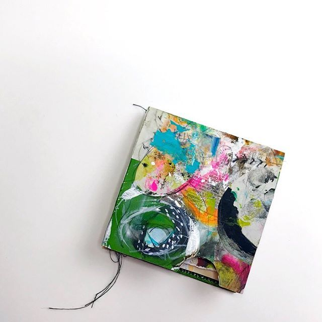 Artistbooks Ideas: Small Mixed Media Art And Scrap Paper Books Made In The
