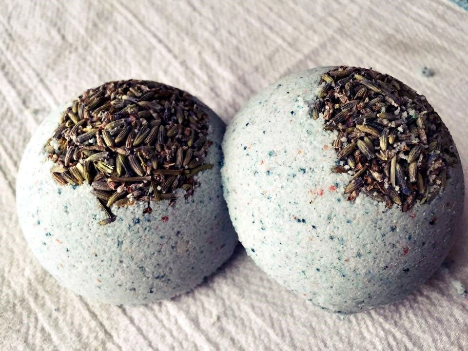Lavender Bath Bomb, Essential Oil by xBathtimeBubbles on Etsy https://www.etsy.com/listing/258034775/lavender-bath-bomb-essential-oil