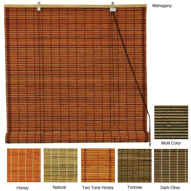 Burnt Bamboo 24 Inch Roll Up Window Shade China Overstock