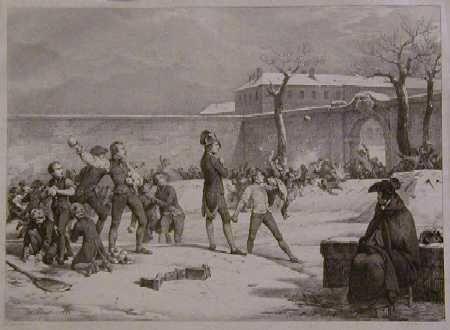 Enfance de Napoléon- la bataille de boules de neige à Brienne -Horace Vernet
