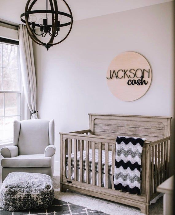 Round Custom Name Sign, Nursery Name Sign, Nursery Room Decor, Boys Nursery Name Sign, Boys nursery name decor, Wood Name Sign
