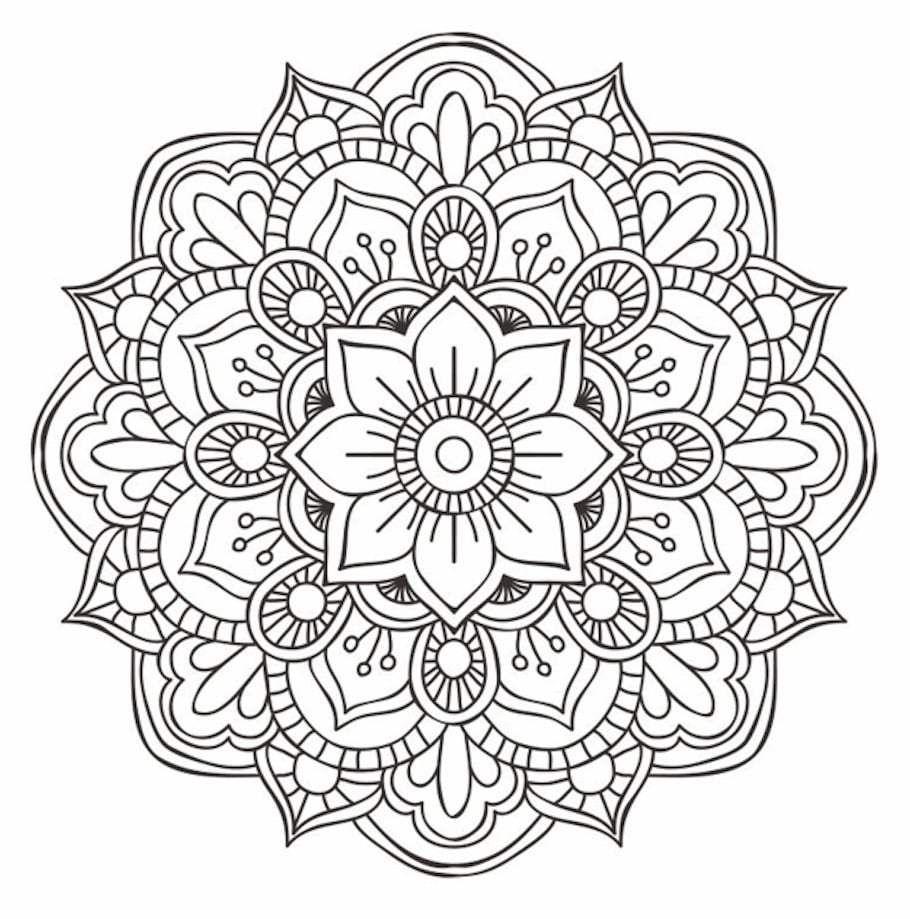 Flower Mandala Doodle (2) - Doodle is Art #mandala