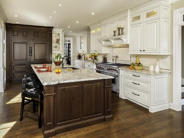 Mouser Cabinetry Walnut And White Kitchen Mouser Cabinetry