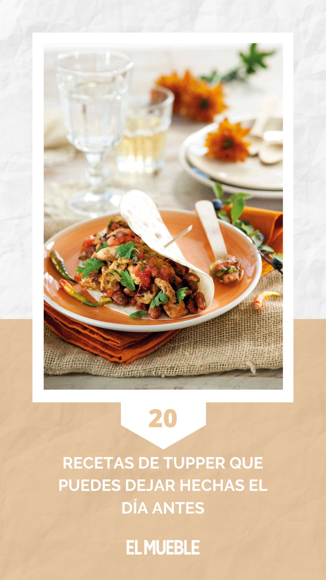 20 Recetas De Tupper Que Puedes Dejar Hechas El Dia Antes Recetas De Cocina Recetas Recetas De Comida