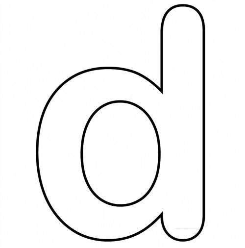 Small Letter D And Clear Coloring Page letters Pinterest