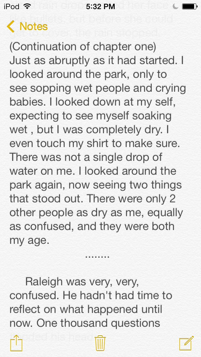 More of my story