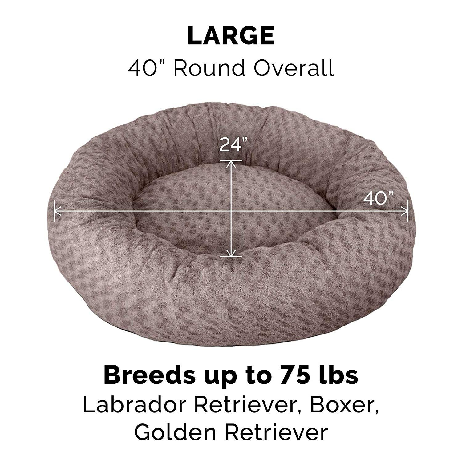 Furhaven Pet Dog Bed Deep Dish Curly