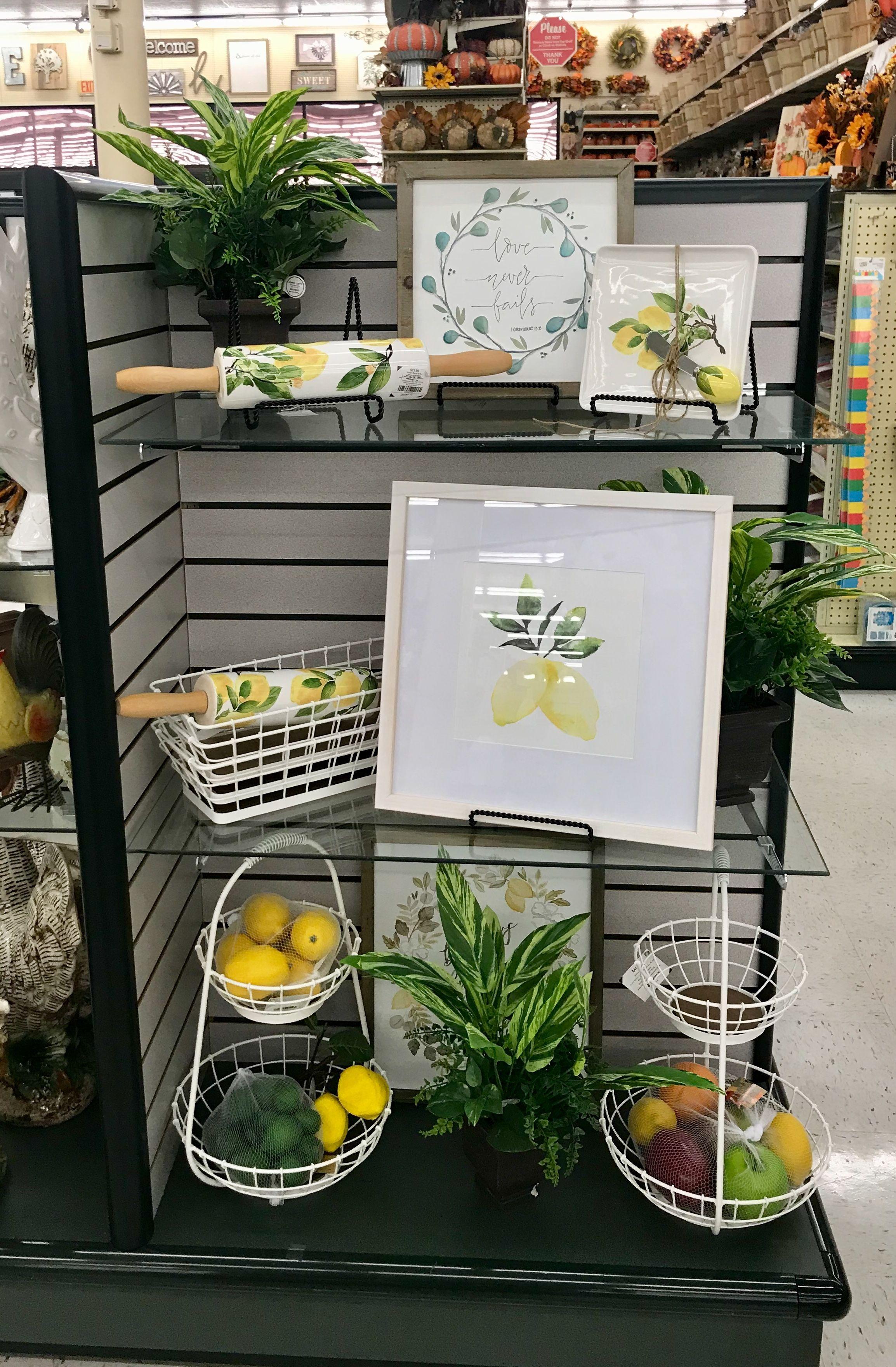 Hobby Lobby Merchandising Table Displays Work Lemon Kitchen