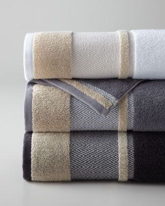 "Kassatex ""Savile"" Towels - Horchow made in Turkey $32"