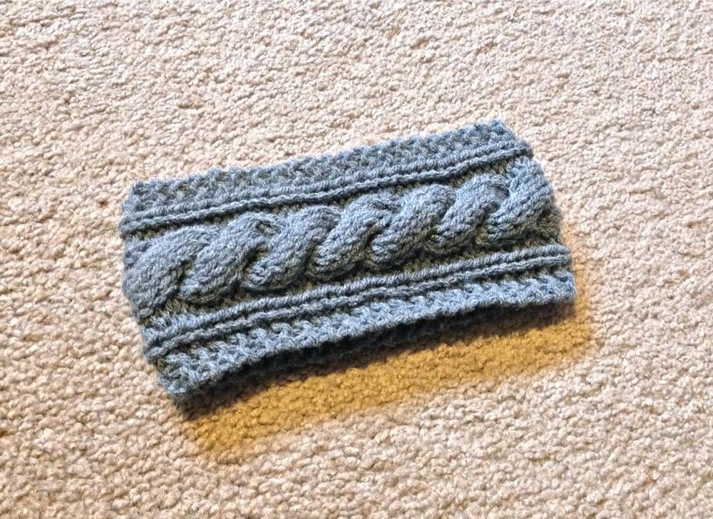 Free Cable Knit Headband Pattern Lilbitmichelevenlee