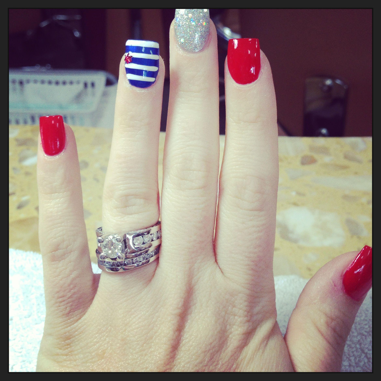 Forth of July nails | Health and beauty | Pinterest | Nail nail ...