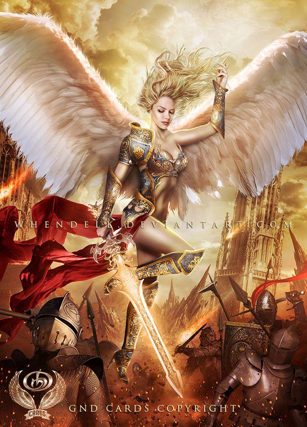 Angel By Whendell Deviantart Com On Deviantart Anjos Monstros