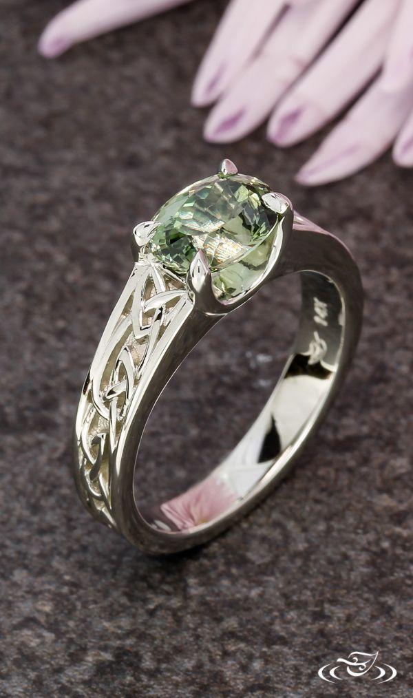 Celtic Sapphire Engagement Ring Greenlakejewelry Celtic Wedding Rings Celtic Rings Women Irish Wedding Rings