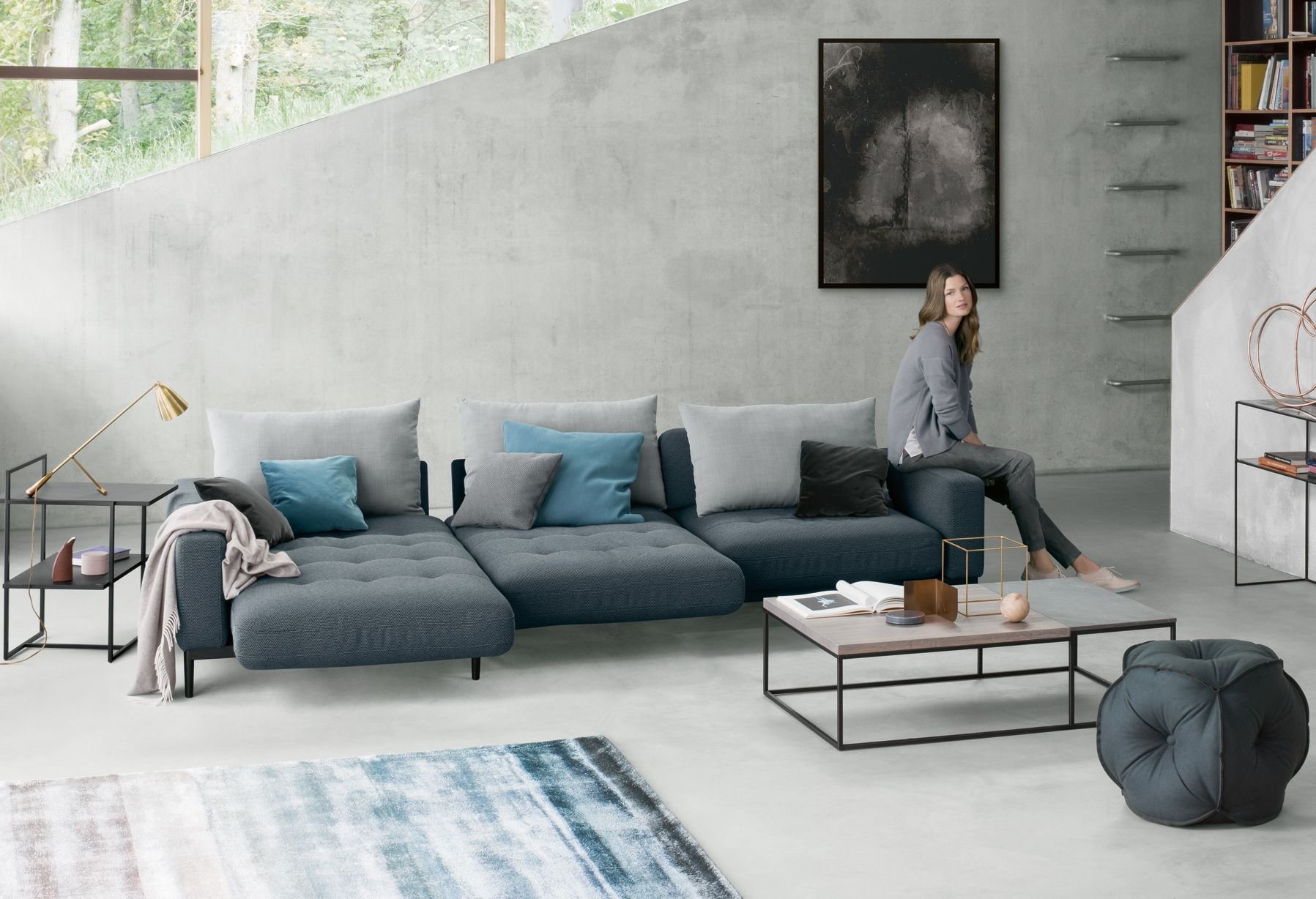 comfortable rolf benz sofa. Rolf Benz 50 / The Jubilee Model - 3 Comfortable Positions In One Sofa G