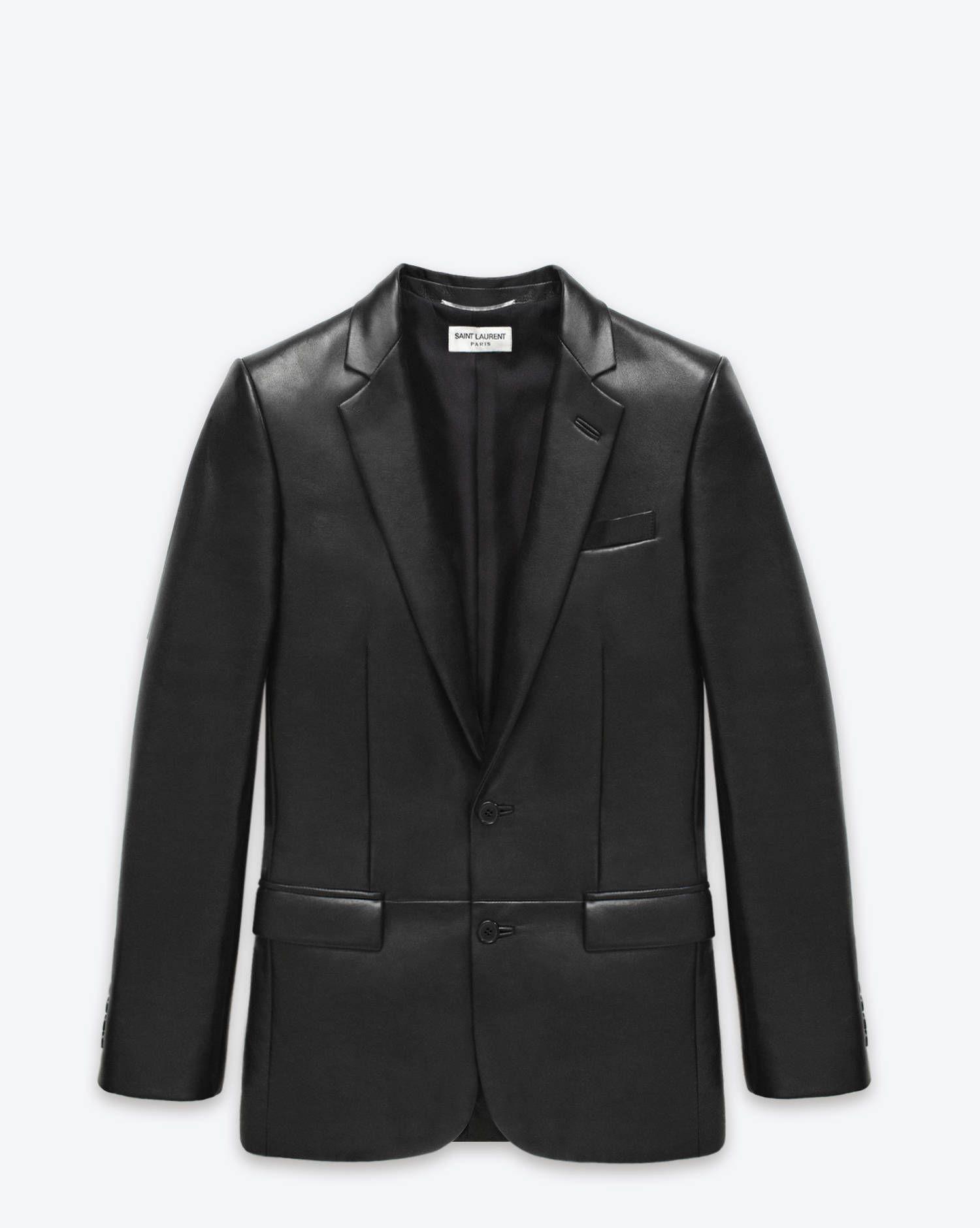 fa25680ff0b Saint Laurent   Classic Blazer in Black Leather.   sexy man   Mens ...
