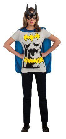 5519fd9c486 Amazon.com  Rubie s Costume Co Women s Dc Comics Batgirl T-Shirt With Cape
