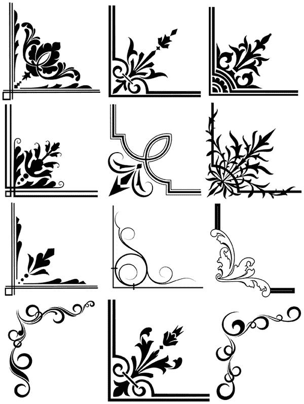 Old World Script And Farm Animal Grafics Free Vectors Vector Corners Free Borders Free Graphics Art Grap Free Graphics Design Freebie Page Borders Design