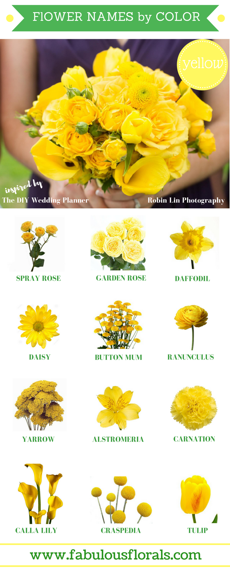 Yellow Flowers Commonly Evoke Feelings Of Happiness And Cheer Which Is Exactly What They Symbolize Yellow Wedding Flowers Yellow Flowers Names Yellow Flowers