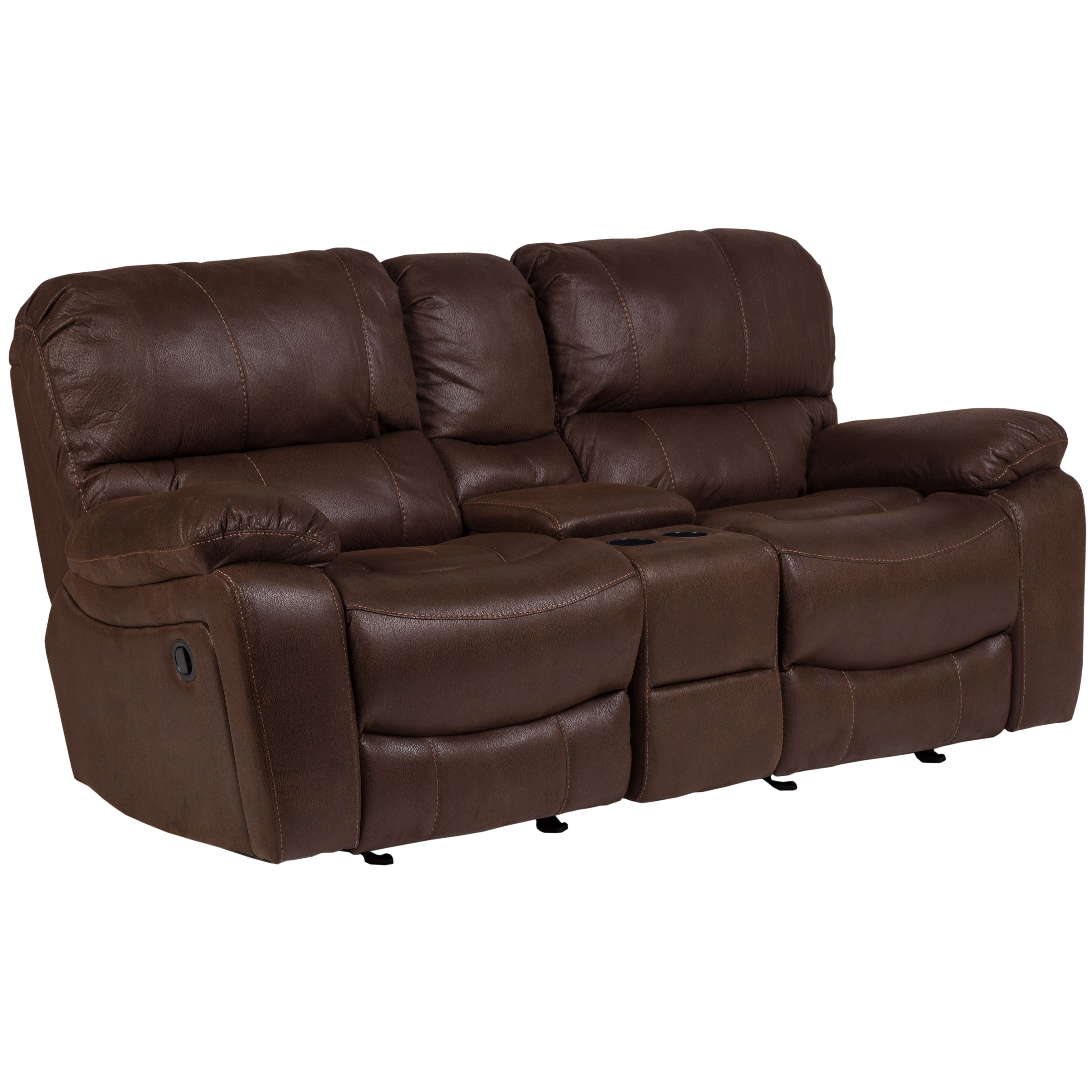 and loveseat couches set center leather reclining with sofas luxury additional console