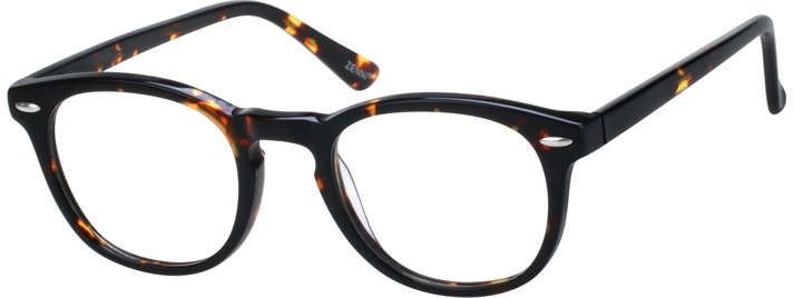 online optical  Tortoiseshell Round Eyeglasses 109825