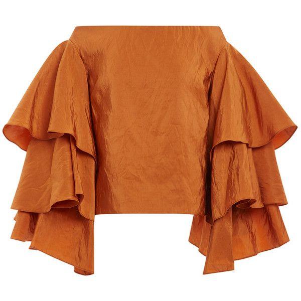 2e47968a5b162 Rosie Assoulin Mojave Washed Silk Bidi Bidi Bom Bom Top (155