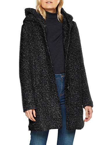 NOS Boucle Noos Onlsedona OTW Manteau Wool Noir Femme ONLY Coat HqgadgR
