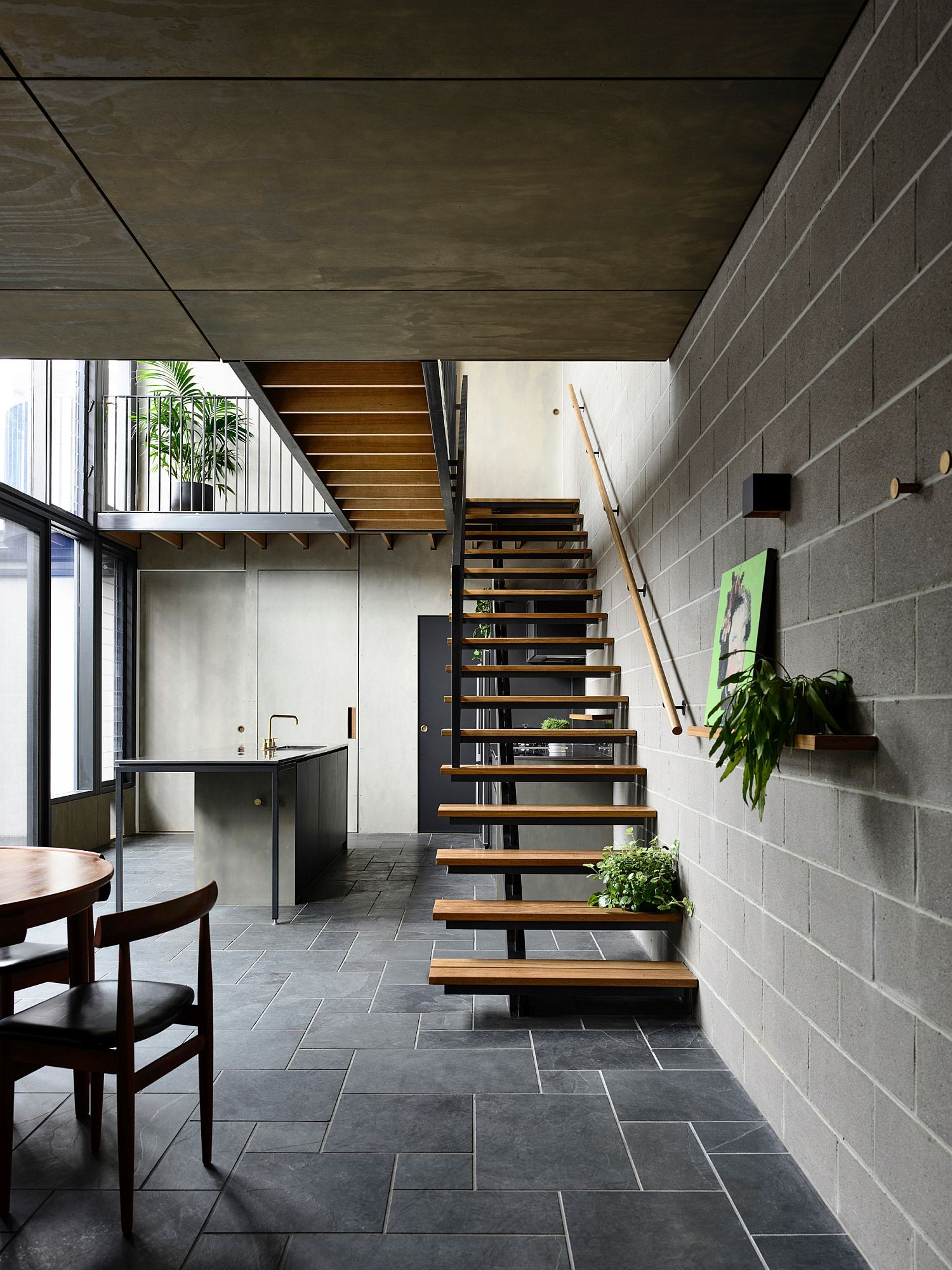 Gorgeous Grays And Industrial Modern Reshape Melbourne Terrace House Zen House Victorian Terrace House Sustainable Architecture
