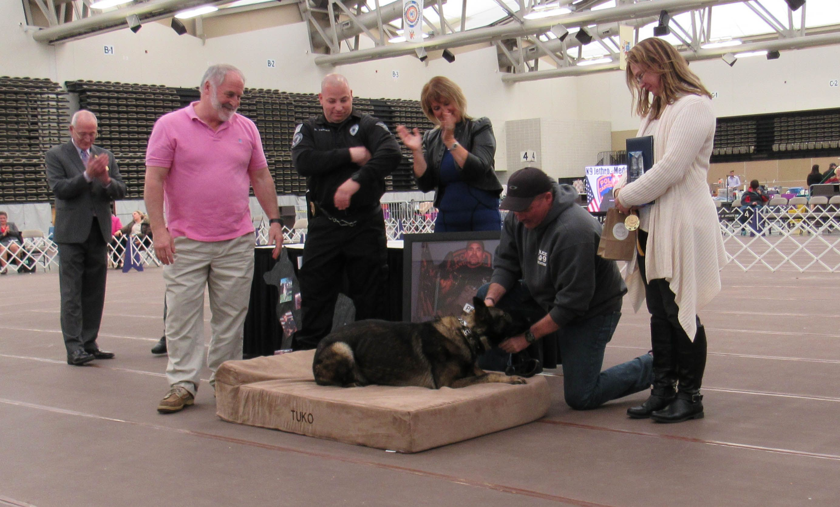 A touching honor for a slain Ohio K9 officer and his