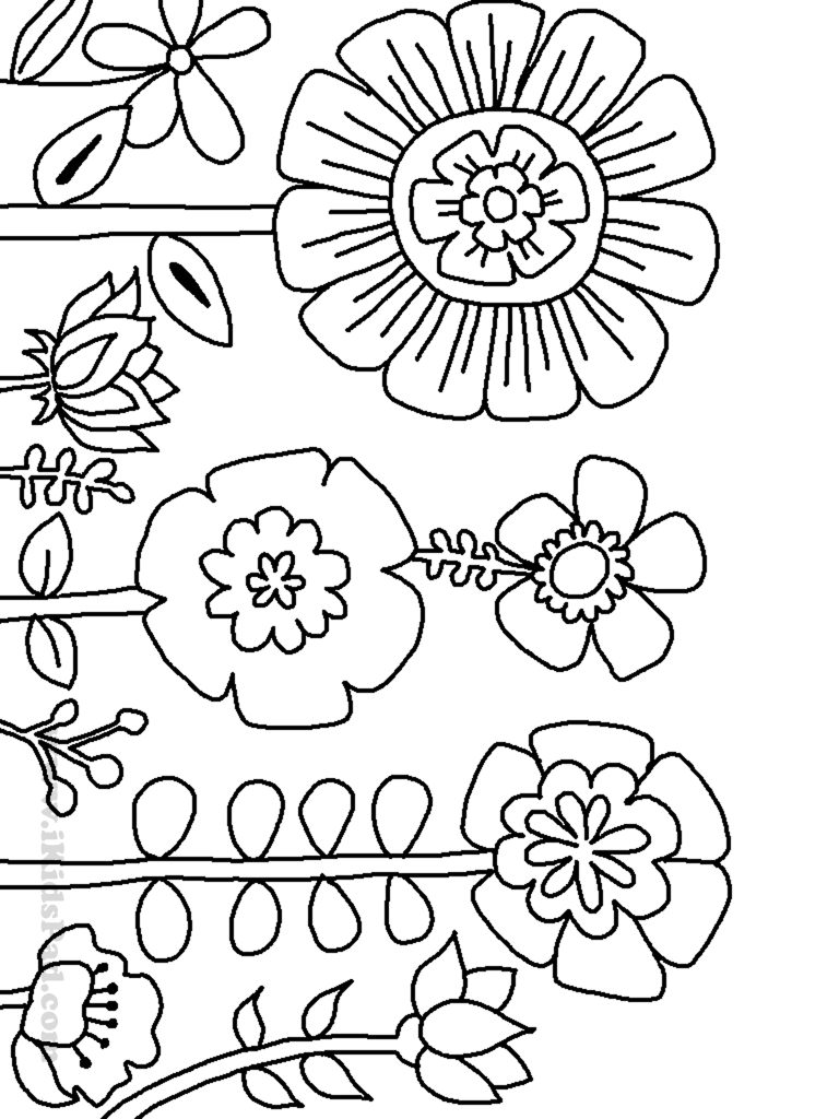 Awesome Coloring Pages Trees Plants And Flowers